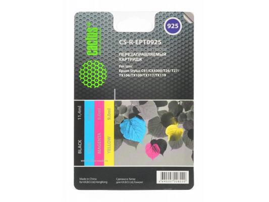 Картридж Cactus CS-R-EPT0925 для Epson Stylus C91/CX4300/T26/T27/TX106/TX109/TX117 цветной 4шт cactus cs ept0925