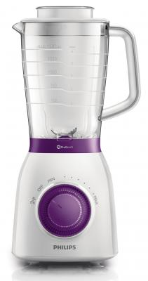 Блендер стационарный Philips HR2163/00 600Вт белый фиолетовый пароочиститель philips gc502 30