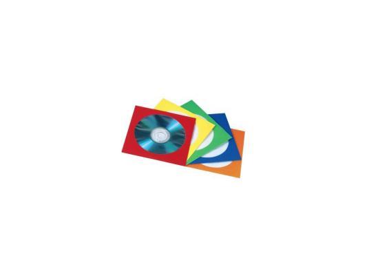 Конверты Hama для CD/DVD бумажные с прозрачным окошком 5 цветов 25шт H-78367 fit 78367