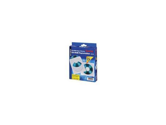 Конверты Hama для CD/DVD бумажные с прозрачным окошком белый 25шт H-51060