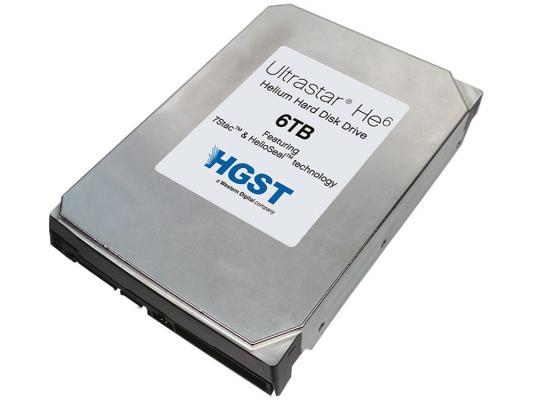 Жесткий диск 3.5 6Tb 7200rpm HGST Ultrastar 7K6000 SAS HUS726060AL5214 0F22811 жесткий диск 2tb hgst ultrastar 7k6000 hus726020al5214 0f22819
