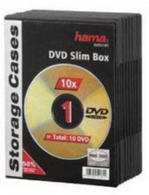 Фото - Коробка HAMA для 1 DVD пластик черный 10шт H-51181 д н колдина рисование с детьми 4 5 лет сценарий занятий