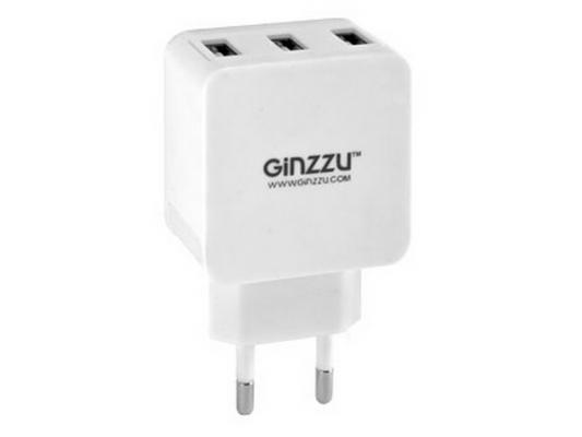 Сетевое зарядное устройство Ginzzu GA-3315UW 5В/3.1A белый ginzzu cзу ginzzu ga 3315uw 3 1а white