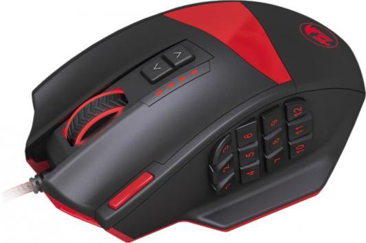 Мышь проводная Defender ReDragon Foxbat чёрный красный USB 70346