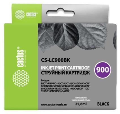 Картридж Cactus LC-900BK для Brother DCP-110/115/120/MFC-210/215 черный 500стр