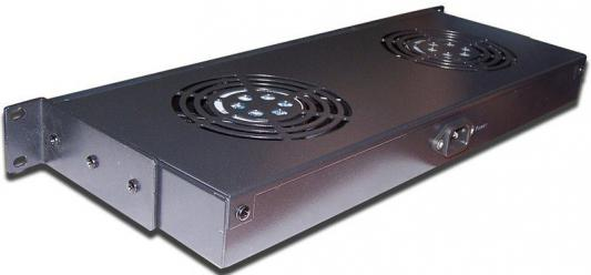 Блок 2-х вентиляторов Lanmaster TWT-CBB-FANB2-RACK-T 19 1U патч панель lanmaster twt pp24utp 19 1u
