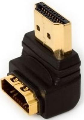 Переходник HDMI- HDMI 5bites позолоченные контакты г-образный HA1005