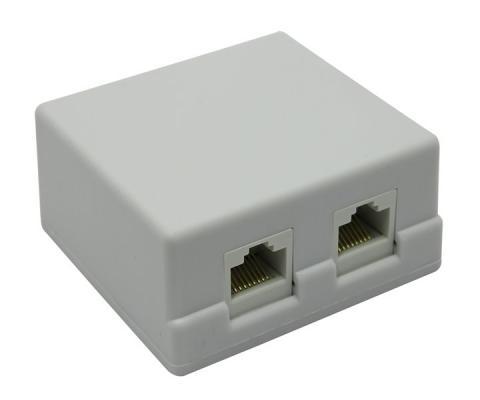 Розетка кат.5E внешняя 2xRJ-45 5bites LY-SB02-A компьютерная розетка tdm 2xrj 45 sq1809 0004