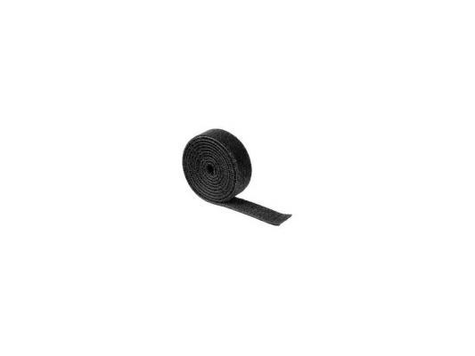 Набор стяжек-липучек Hama H-20543 в рулоне 100см нейлон черный