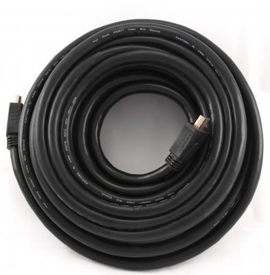 Кабель HDMI 4.5м Gembird v1.4 экранированный позолоченные разъемы черный CC-HDMI4-15 кабель hdmi 1 8м gembird v2 0 экранированный позолоченные разъемы черный cc hdmi4x 6