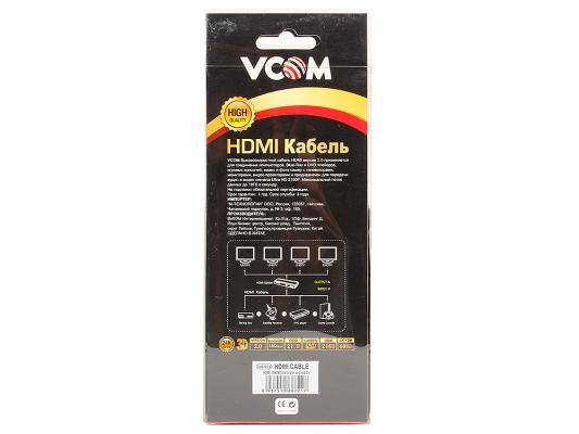 Кабель HDMI 3.0м VCOM Telecom CG526S-3MR кабель hdmi vcom cg526s 3mr 19m m ver 2 0 3m cg526s 3mr