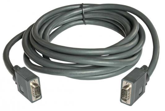Кабель VGA 10м Gembird Premium тройное экранирование черный CC-PPVGA-10M-B кабель hdmi 10м gembird cc hdmi 10m круглый черный