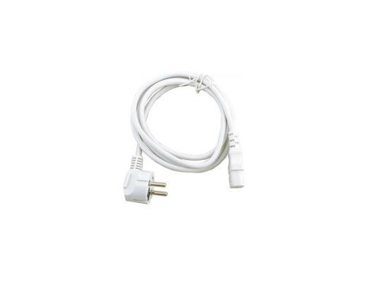 Фото - Кабель питания 1.8м 10А Gembird PC-186W-VDE белый с заземлением cablexpert кабель питания 10м schuko c13 3х1кв мм черный с заземлением пакет pc 186 1 10m