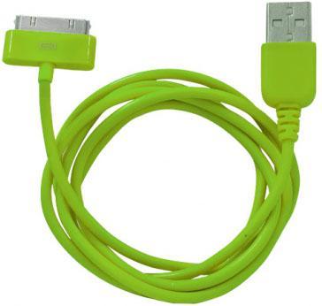 Кабель CBR Human Friends Super Link Rainbow C Green USB 1м для iPhone 3G 4 iPad 1 2 3 iPod 5 Lightning 30-pin зеленый CB 273