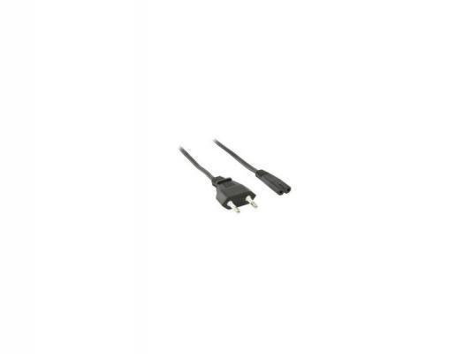 Кабель питания для бытовой электроники 2.5м VCOM Telecom TP228-IEC320-C7--CEE7/16-2.5-B черный
