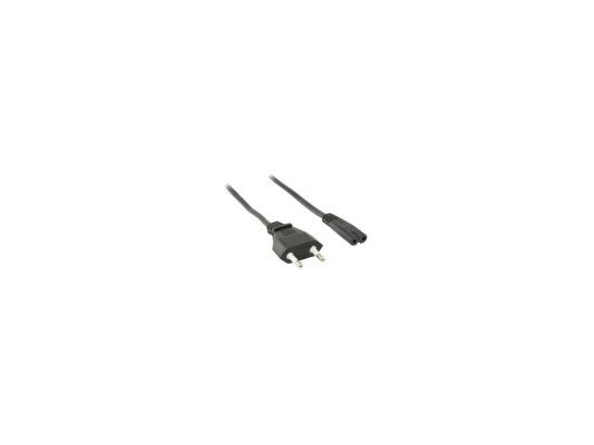 Кабель питания для бытовой электроники 5.0м VCOM Telecom TP228-IEC320-C7--CEE7/16-5.0-B черный