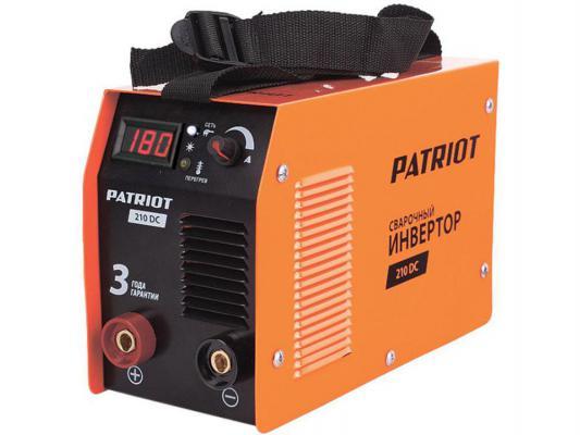 Аппарат сварочный Patriot 210DC MMA 10/160A инверторный от 123.ru
