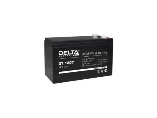 Батарея Delta DT 1207 7Ач 12B delta battery dt 1207 12v 7ah