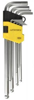 Набор ключей Stayer MASTER имбусовые 9шт 2741-H9-2 набор ключей комбинированных stayer professional 2 271251 h7