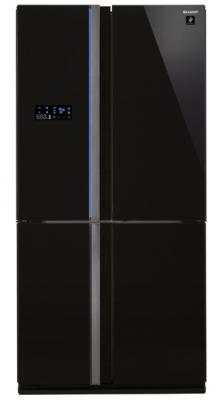 Холодильник Side by Side Sharp SJFS97VBK черный холодильник side by side samsung rs552nrua9m