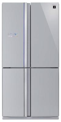 Холодильник Side by Side Sharp SJ-FS97VSL серебристый холодильник side by side samsung rs 552 nrua9m wt