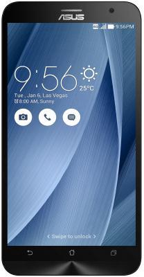 "Смартфон ASUS Zenfone 2 ZE551ML серебристый 5.5"" 32 Гб NFC LTE Wi-Fi GPS 90AZ00A5-M01510"