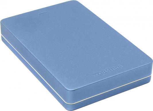 """Внешний жесткий диск 2.5"""" USB3.0 2Tb Toshiba Canvio Alu HDTH320EL3CA голубой"""