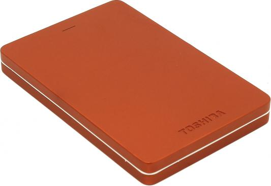 Внешний жесткий диск 2.5 USB3.0 500Gb Toshiba Canvio Alu HDTH305ER3AA красный