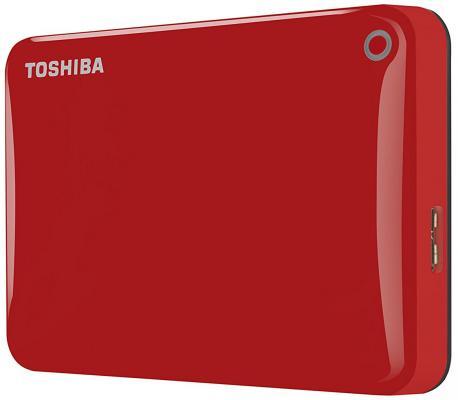 """Внешний жесткий диск 2.5"""" USB3.0 1Tb Toshiba Canvio Connect II HDTC810ER3AA красный"""