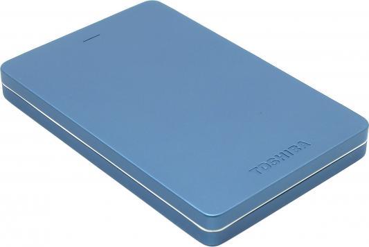 Внешний жесткий диск 2.5 USB3.0 500Gb Toshiba Canvio Alu HDTH305EL3AA голубой
