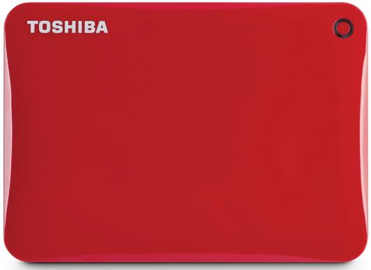 Внешний жесткий диск 2.5 USB3.0 2Tb Toshiba Canvio Connect II HDTC820ER3CA красный внешний жесткий диск toshiba 2tb canvio connect ii hdtc820ew3ca