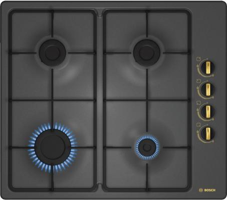 Варочная панель газовая Bosch PBP6B3B60 черный