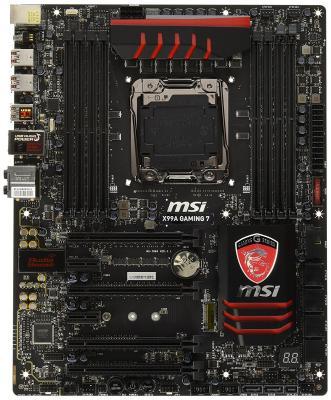 все цены на  Материнская плата MSI X99A GAMING 7 Socket2011-3 X99 8xDDR4 4xPCI-E 16x 2xPCI-E 1x 10xSATAIII 7.1 Sound GLan ATX Retail  онлайн