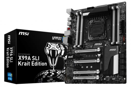 Мат. плата для ПК MSI X99A SLI Krait Edition Socket 2011-3 X99 8xDDR4 4xPCI-E 16x 2xPCI-E 1x 10xSATAIII ATX Retail