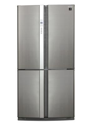 Холодильник Side by Side Sharp SJFP97VST серебристый холодильник side by side samsung rs 552 nrua9m wt