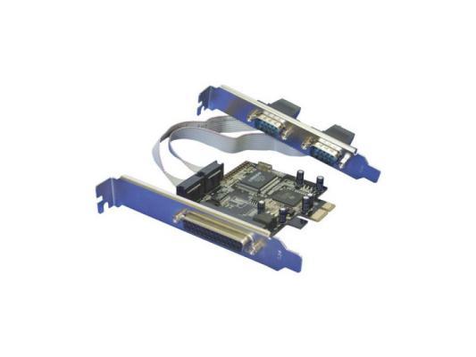 Контроллер PCI-E Orient XWT-PE2S1PV2 2xCOM 1хLPT контроллер pci e wch382 1xlpt 2xcom ret [asia pcie wch 2s1p lp]