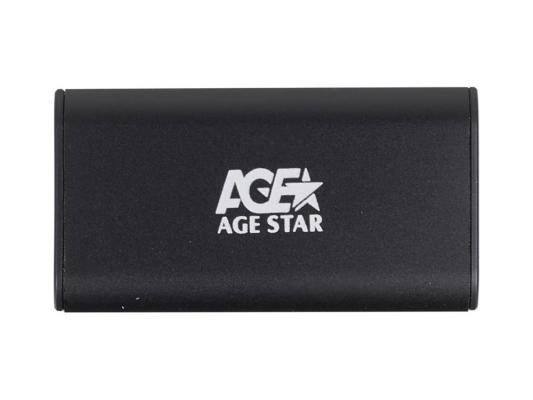 Внешний контейнер для HDD mSATA AgeStar 3UBMS1 USB3.0 пластик/алюминий черный  3UBMS1