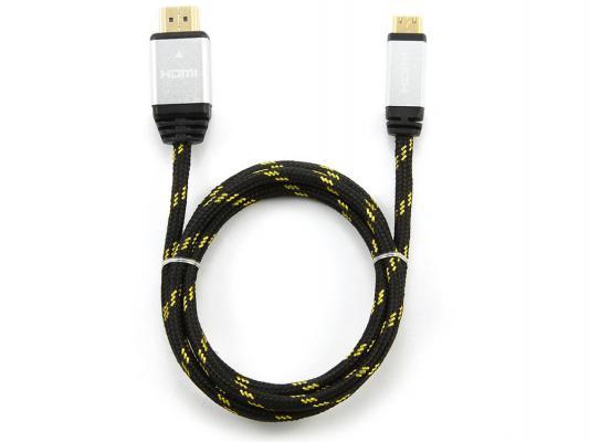 Фото - Кабель HDMI-mini HDMI 1.0м Konoos KCP-HDMICnbk нейлоновая оплетка черный аксессуар mobiledata hdmi 4k v 2 0 плоский 1 8m hdmi 2 0 fn 1 8