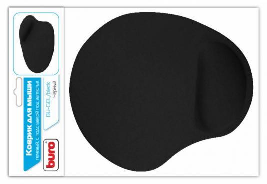 Коврик для мыши Buro BU-GEL 230х205х25мм гелевый черный