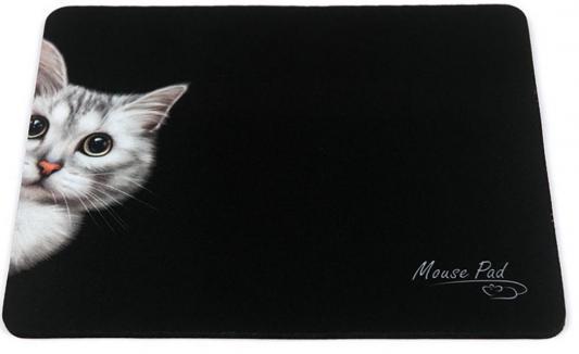 Коврик для мыши Dialog PM-H15 черный с рисунком Cat
