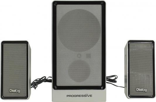 Колонки Dialog Progressive AP-207 2x10 + 18 Вт черный