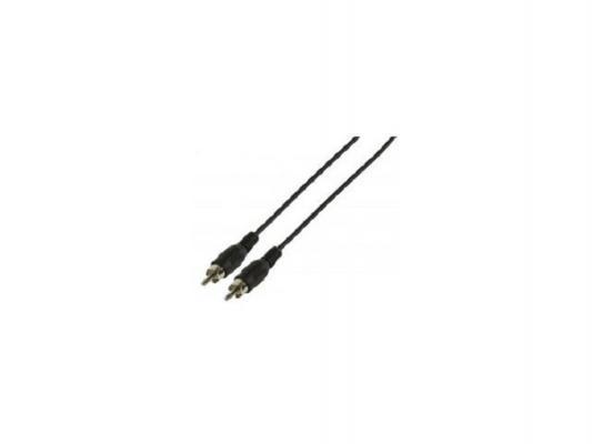 Кабель соединительный 1.5м VCOM Telecom RCA(M)-RCA(M) черный AV4158-1.5M