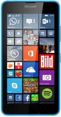 "Смартфон Microsoft Lumia 640 Dual Sim LTE голубой 5"" 8 Гб LTE NFC GPS Wi-Fi"