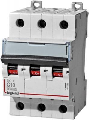 Автоматический выключатель Legrand DX3-E 6000 6кА тип C 3П 10А 407289