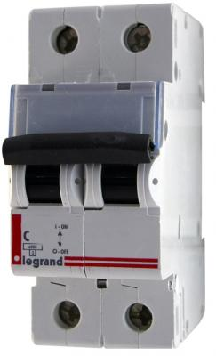 Автоматический выключатель Legrand TX3 6000 тип C 2П 50А 404047 выключатель автоматический модульный legrand 2п c 32а 6ка tx3 404045