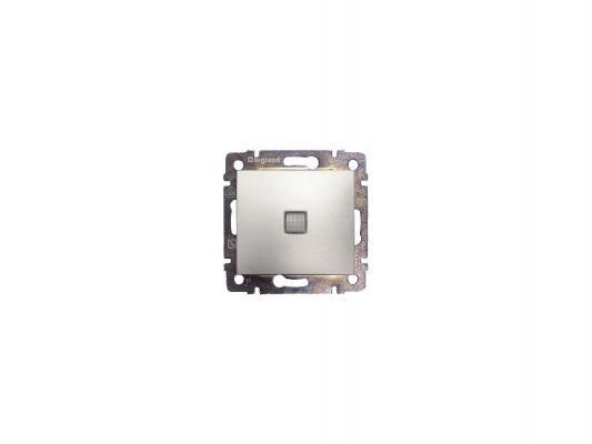 Переключатель Legrand Valena одноклавишный с подсветкой алюминий 770126