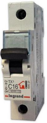 Автоматический выключатель Legrand TX3 6000 тип C 1П 6А 404025 автоматический выключатель legrand tx3 6000 тип c 1п 40а 404032