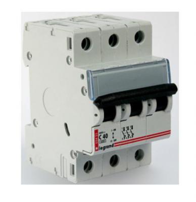 Автоматический выключатель Legrand DX3-E 6000 6кА тип C 3П 16А 407291  автоматический выключатель legrand dx3 e 6000 6ка тип с 1п 20а 407264