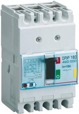 Автоматический выключатель Legrand DPX3 16кА 3P 100A 420005