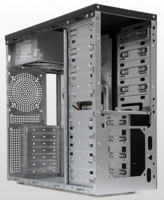 Корпус ATX Foxline FL-942-FZ450R 450 Вт чёрный серебристый
